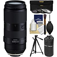 Tamron 100-400mm f/4.5-6.3 Di VC USD Zoom Lens with 3 UV/CPL/ND8 Filters + Pouch + Tripod Kit for Canon EOS Digital SLR Cameras