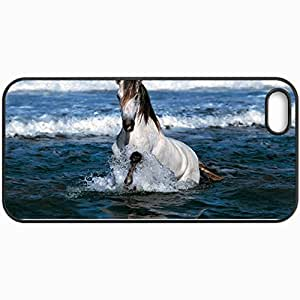 Personalized Protective Hardshell Back Hardcover For iPhone 5/5S, Horse Design In Black Case Color