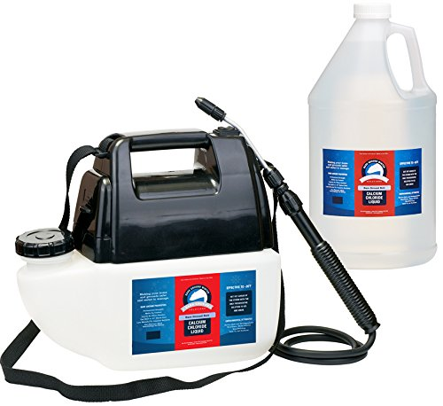 Bare Ground Bolt BGBPS-1C Fast-Acting CaCl2 Ice Melt Liquid with Battery Powered Sprayer, 128 oz (1 Gallon)
