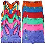 ToBeInStyle Girls' Pack of 6 Floral Princess Print Bra & Boyshorts Set - L