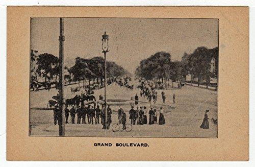 (Grand Boulevard, USA Vintage Original Postcard #2889 - Early 1900's )