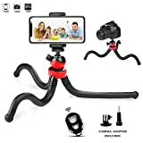 Tripod iPhone, Prowithlin Octopus Flexible Tripod Stand Cell Phone Gopro Camera, Selfie monopod When plogging