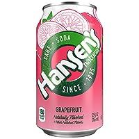 Hansen's Cane Soda (Grapefruit, 12 fl oz, Pack of 24)