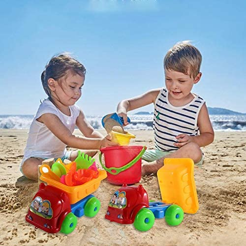 Colorful 11Pcs//set Unique Children Kids Beach Playing Truck Sand Dredging Toy Set Playing Toy Best Gift For Kids Children Sand Dredging Toy Set