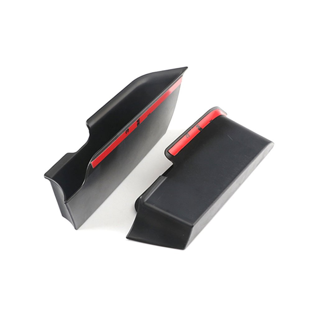 Houkiper 2PCS Car Inner Side Front Door Handle Armrests Storage Box Tray Holder for Mini Cooper F55 F56