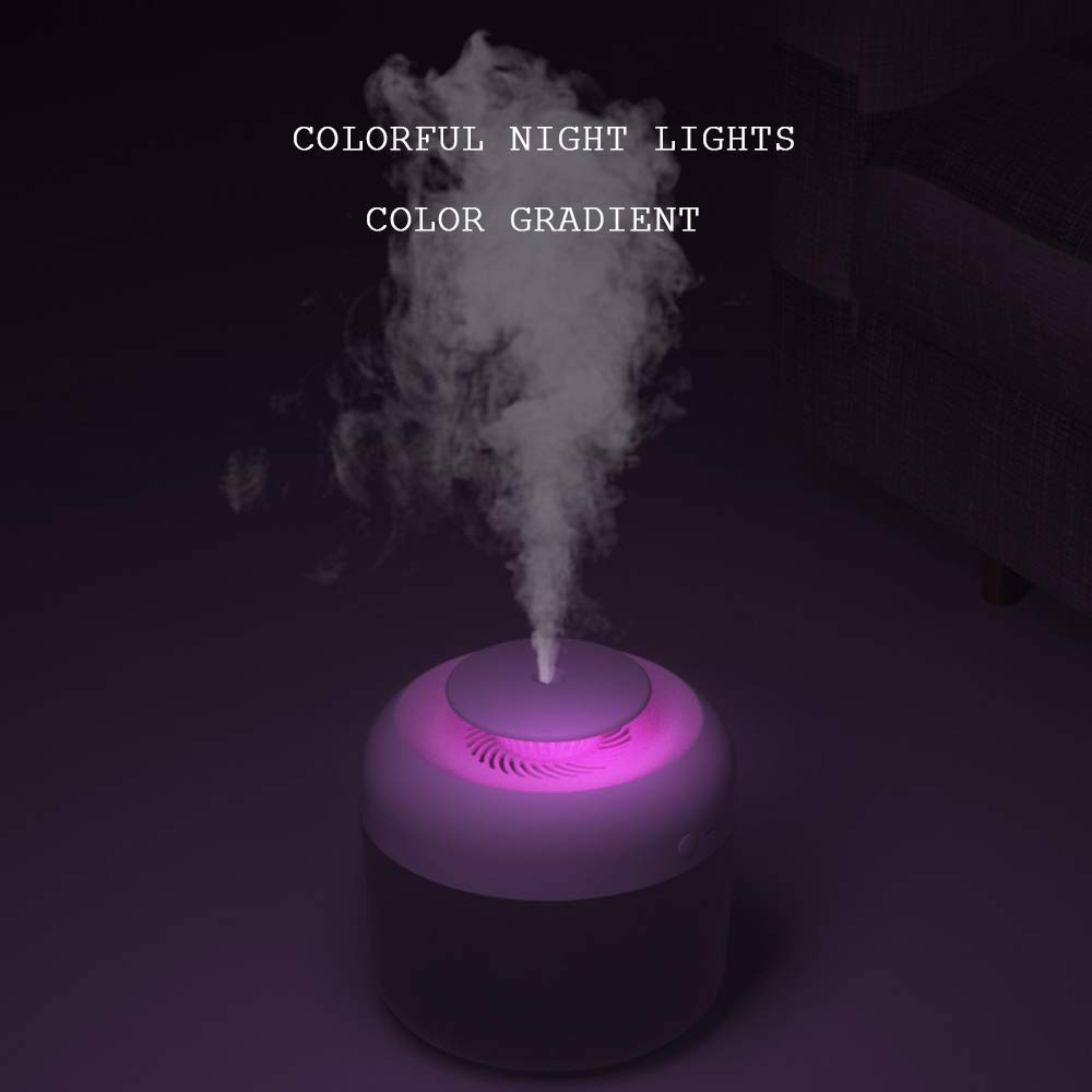 Essential Oil Diffusers, 2.4L Aromatherapy Diffusers with Colors LED Lights, Cool Mist Humidifier for Home Office Bedroom (White) : Beauty