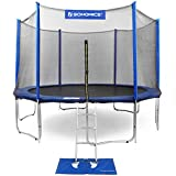 SONGMICS 15 14 12 FT Outdoor Trampoline for Kids with Enclosure Net Jumping Mat and Spring Cover Padding TÜV Rheinland Certificated According to ASTM and GS Standard