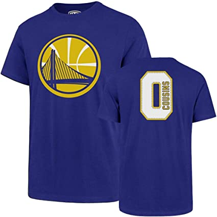 Royal Golden State Warriors OTS mens Player Rival Tee NBA Large Demarcus Cousins