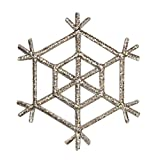 ID 8112 Snowflake Design Patch Winter Christmas Ice Embroidered Iron On Applique