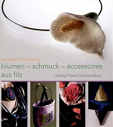 Blumen-schmuck-accessoires aus filz
