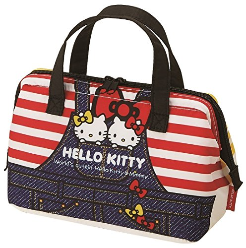 Bag Toy Denim (Skater Insulated Coin type lunch bag Hello Kitty Denim KGA1 from Japan)