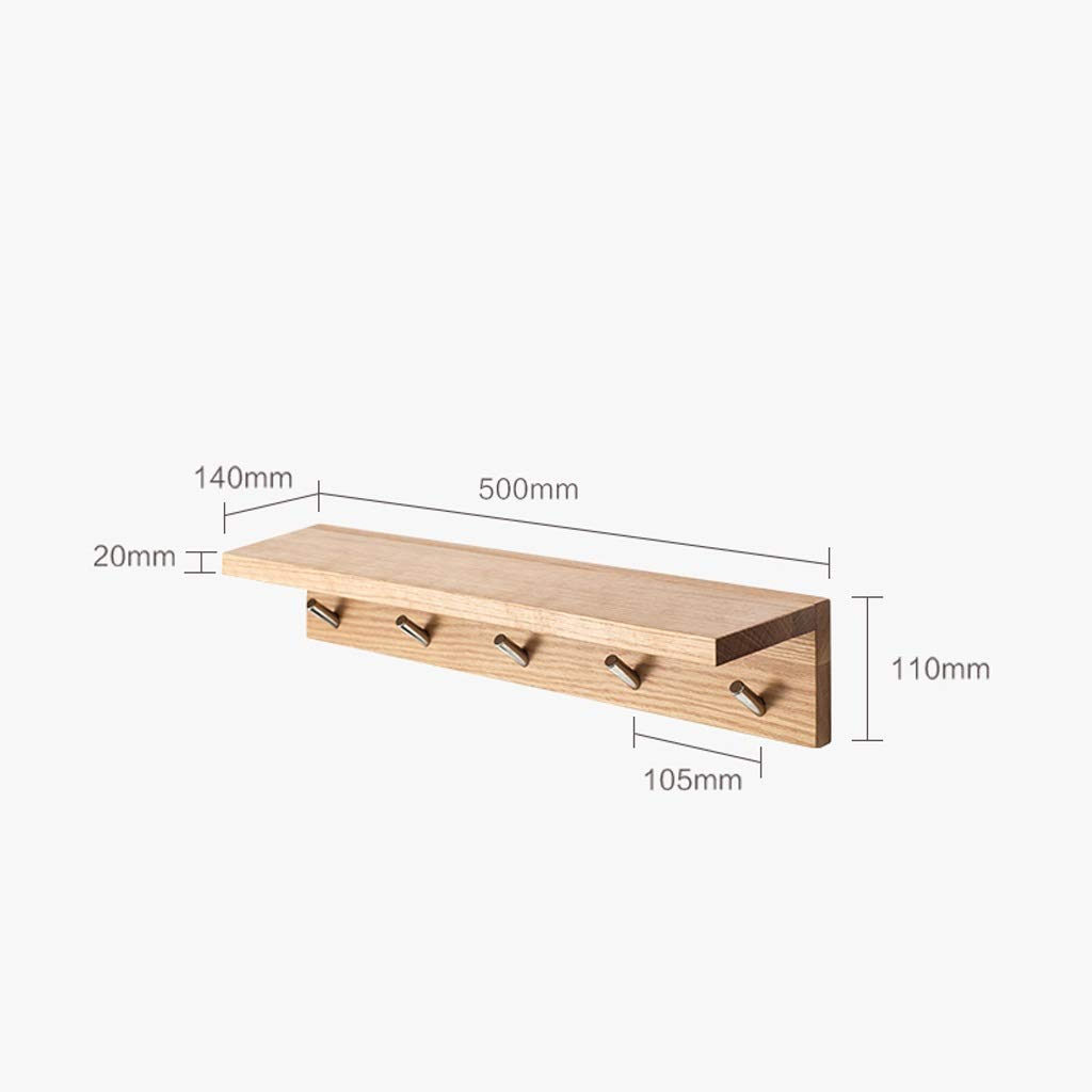 Amazon.com: Solid Wood Oak Coat Rack Hall F Wall Shelf ...