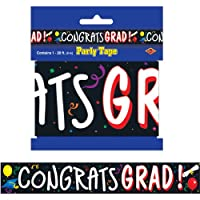 Congrats Grad Party Accesorio para fiestas de cinta (1 conteo) (1 /Pkg)