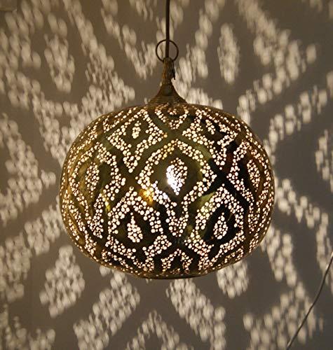 Marroquí Lámpara de techo de latón antiguo 30 cm ...