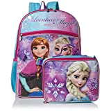 Disney Girls' Frozen Backpack with Lunch, Purple