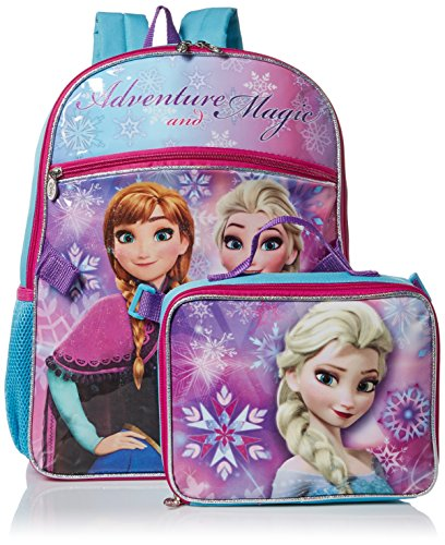 Price comparison product image Disney Girls' Frozen Backpack with Lunch, Purple