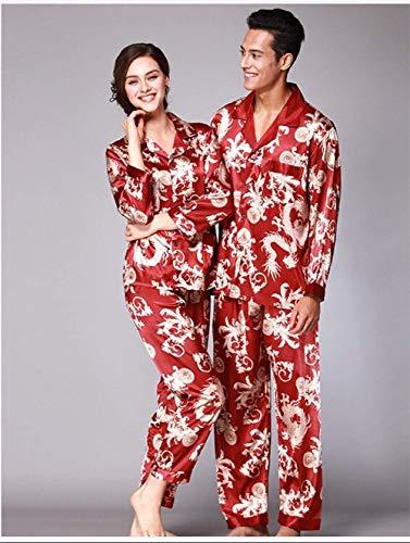 Pigiama Set Chic Donna Menaspicture Moda Pantaloni A Lunghe Uomo Giova Colletto Maniche Da dd8qBv4wr