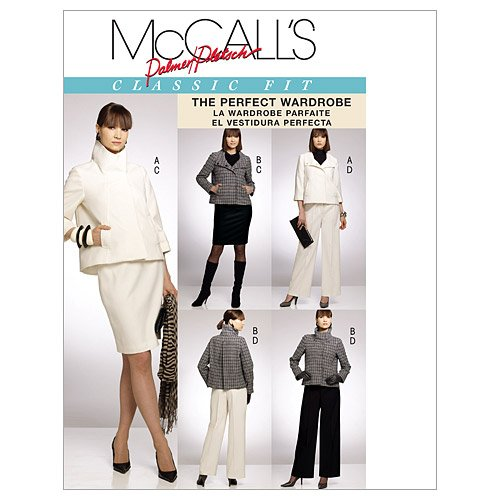 McCall's Patterns M5984 Misses' Lined Jackets, Skirt and Pants, Size FF (16-18-20-22)