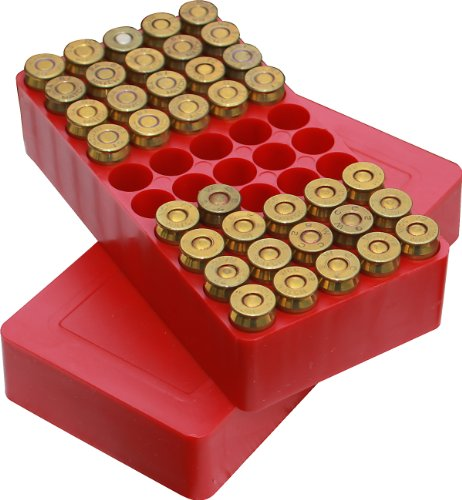 MTM 50 Round Slip-Top Ammo Box 44/45 Cal (Red)