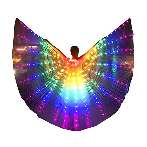 Adult Child Belly Dance LED Isis Wings Festival Party Cosplay LED Wings Costume