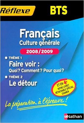 Livres gratuits FRANCAIS BTS THEMES 2008/2009 pdf
