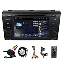 TLTek 7 inch HD 1024*600 Muti-touch Screen Car GPS Navigation System For Mazda 3 2004-2009 Android DVD Player+Backup Camera+North America Map
