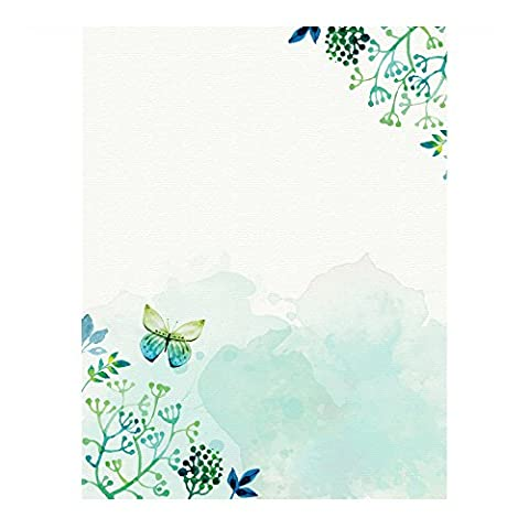 100 Stationery Writing Paper, with Cute Floral Designs Perfect for Notes or Letter Writing - (Business Trivia)
