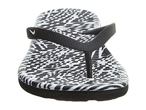 2 Chanclas Black para White Print Thong Blanco Wmns Solarsoft Mujer Nike RwxqtHXt