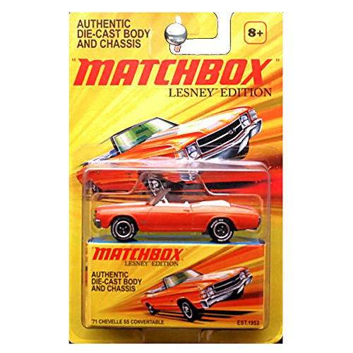 Matchbox 2011 Lesney Edition 1971 71 Chevy Chevrolet Chevelle SS Convertable Convertible Orange (Lesney Matchbox)