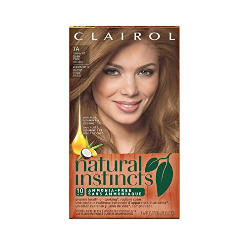 Sandalwood Naturals - Clairol Natural Instincts Semi-Permanent Hair Color Kit (Pack of 3) 7A/10 Sandalwood Dark Cool Blonde Color, Ammonia Free, Long Lasting