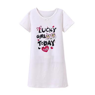 a9ba9debe4814 HOYMN Chemise de Nuit Pyjama pour Enfant Fille 2-3ans Robe de Nuit Cerise à