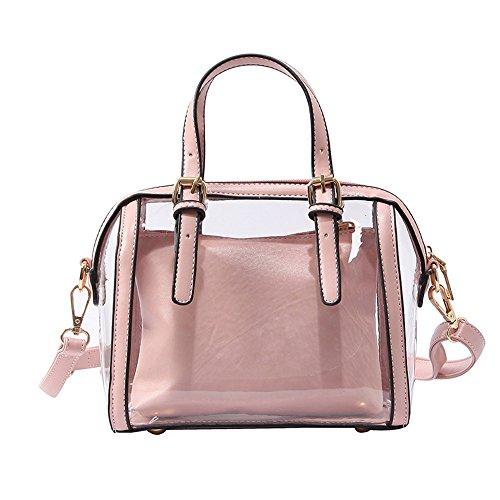 À Meaeo Transparent Bandoulière Bleu Pink Messenger Bag Nouveau Sauvage Sac Fq55pwSA