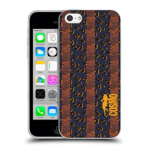 Official Cosmopolitan Zebra Leopard Animal Print Soft Gel Case for Apple iPhone 5c