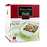 ProtiDiet Roasted and Salted Soy Nuts (7 bags of 1.305 oz, net 9.1 oz) - High Protein Low Carbs Soy Nuts