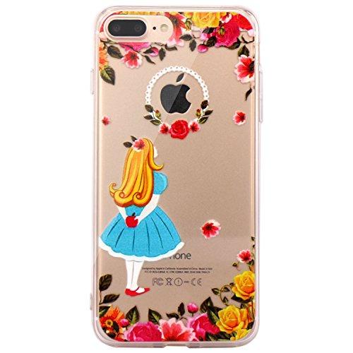 JAHOLAN iPhone 7 Plus Case, iPhone 8 Plus Case Amusing Whimsical Design Clear TPU Soft Case Rubber Silicone Skin Cover for iPhone 7 Plus iPhone 8 Plus - Wonderland