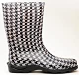 Sloggers 5005GT09 Size 9 Houndstooth Women's Waterproof Rain Boots (Discontinued by Manufacturer)