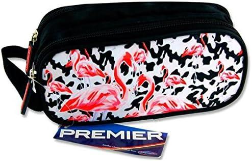 Premier papeterie C5615815/Flamingos Motif Campus ovale 2/Pocket Zip Trousse