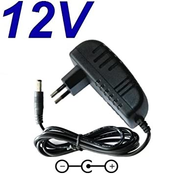 Cargador Corriente 12V Reemplazo Taladro Black & Decker CD12CA-QW A9252 Recambio Replacement