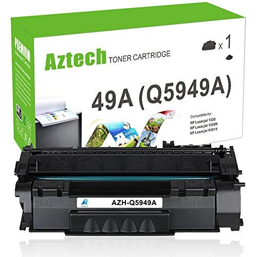 Aztech Compatible Q5949A 49A Toner Q7553A 53A Toner Cartridge For LaserJet 1320 1320n 1320nw 1320 Toner laserjet 3390 1160 M2727NF Laserjet P2015 P2015DN P2015D Toner 1 Pack (Laserjet Hp P2015dn Printer)