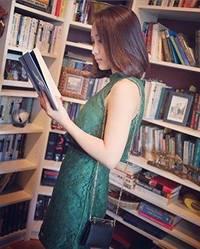 DANTTAN Women Crossbody Wallet Trifold Soft Calfskin Genuine Leather Handbag Black Photo #6