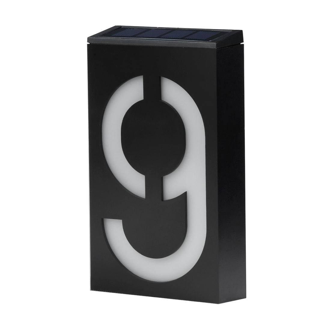 Fastdisk Door Number 9,House Address Numbers for Mailbox Black Box for Patio,Lawn,Home,Wedding,Party,Outdoor Decoration(Plate 9)