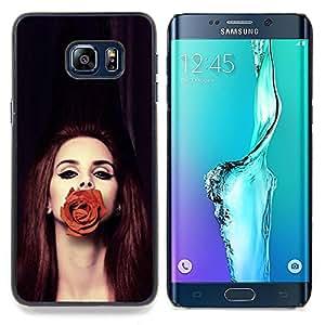 Stuss Case / Funda Carcasa protectora - Rose Moda pelirroja Belleza Profunda - Samsung Galaxy S6 Edge Plus / S6 Edge+ G928