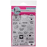 """Pink & Main PM0169 Clear Stamps 4""""X6""""-Happy Mail"""