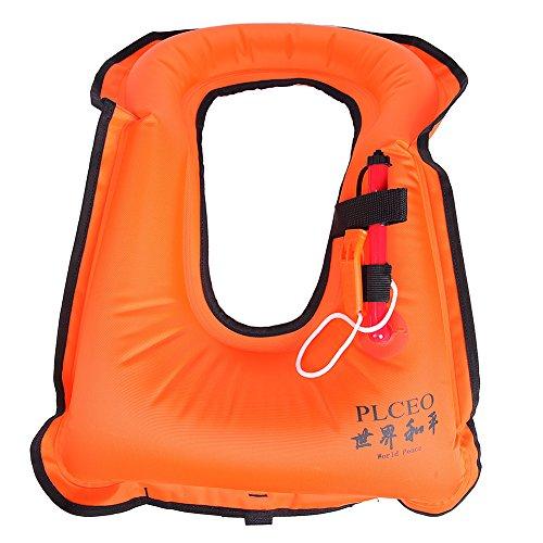 Plceo Inflatable Canvas Life Jacket Snorkeling Vest,Snork...