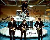 The Beatles early band signed reprint photo All 4 John Lennon