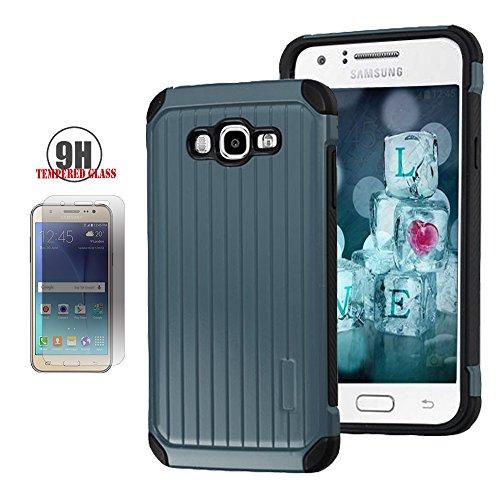 Slim Fit Hybrid Case for Samsung J7 (Grey/Red) - 3