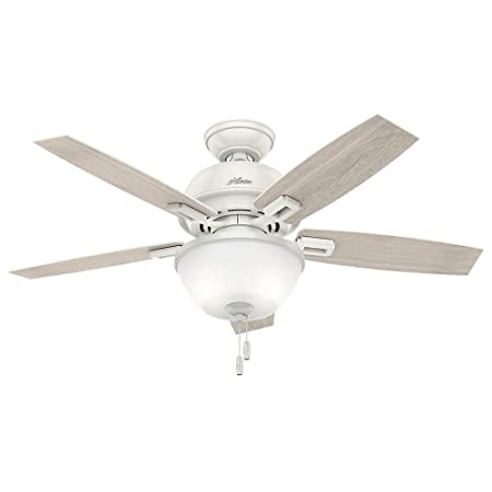 Hunter 44 Donegan Bowl Light Fresh White Ceiling Fan with Light