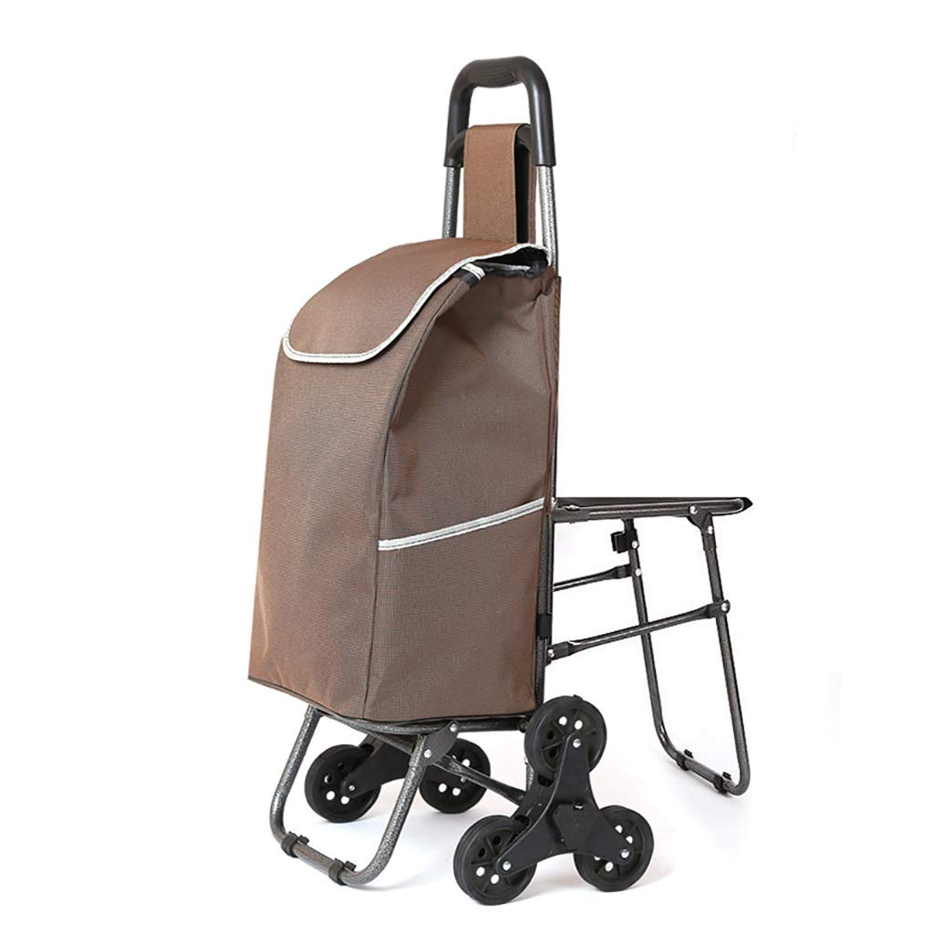 f6d9c62deed0 Amazon.com : Portable Folding Trolley with Seat, Utility Hand Cart ...