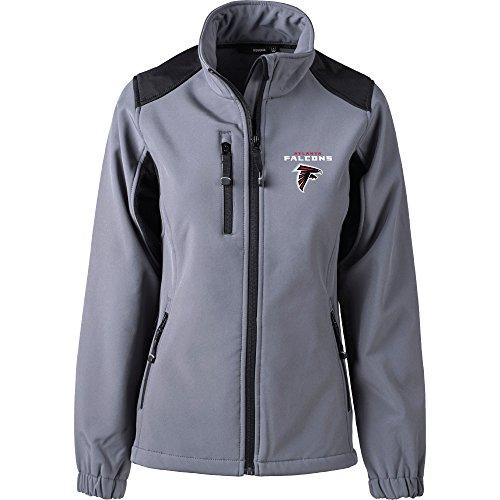 e746a65e Dunbrooke Apparel NFL Atlanta Falcons Women's Softshell Jacket, Large,  Graphite