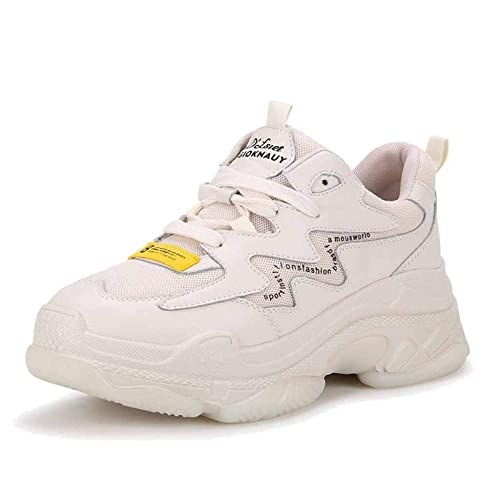 Zapatos De Plataforma De Ejercicio con Cordones De Zapatos Planos Mocasines De Cuero para Mujer Deportes De Primavera De Color A Juego: Amazon.es: Zapatos y ...